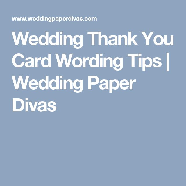 Wedding Thank You Card Wording Tips | Wedding Paper Divas