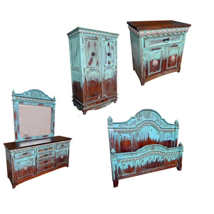 Admirably Turquoise Bedroom Furniture Ideas, Turquoise Distressed Bedroom Furniture