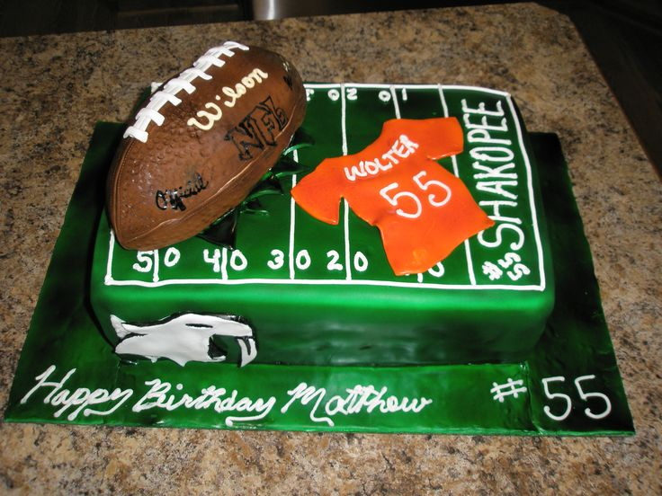 16 Best Football Cake Ideas Images On Pinterest Cheer Cakes
