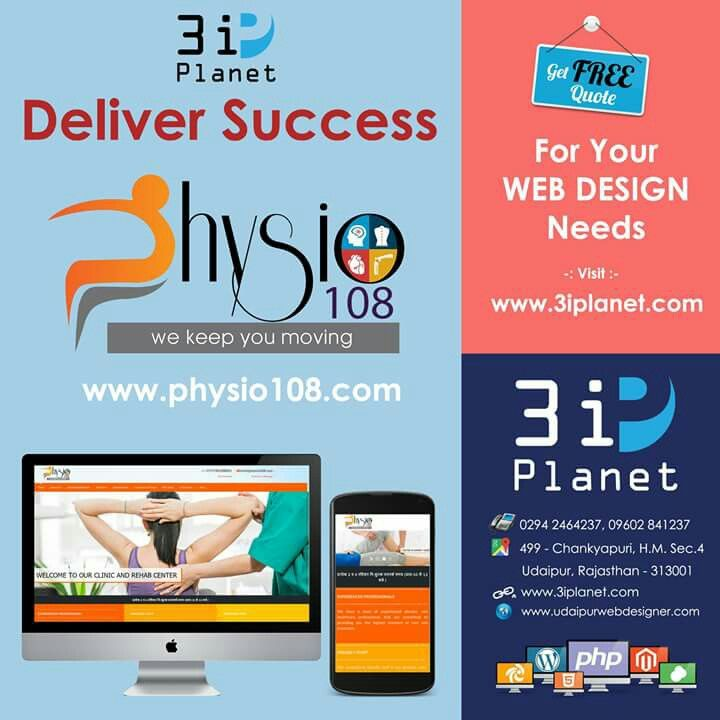 Decided to Share our Web Design Work on Social Media, In this sequence i'm share our recent work www.physio108.com, Please Visit and give your feedback.  Great Work done by 3i Planet Team.  If you are looking for #responsive, #creative and #professionalwebsite for your #business we can help you. Visit www.3iplanet.com or Call & whatsapp @ 960284 1237  #WebDesignCompany #WebDesigner #Udaipur