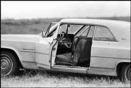USA. Selma, Alabama. 1965. The Great Freedom March. Car of Viola Liuzzo, a white civil rights worker from Detroit, who was driving to Selma with 19-year-old Leroy Morton, when they were forced off the road, shot and killed.