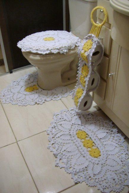 http://www.aliexpress.com/store/1687168  50% off on August 25, only one day! jogo de banheiro em croche a pronta entrega