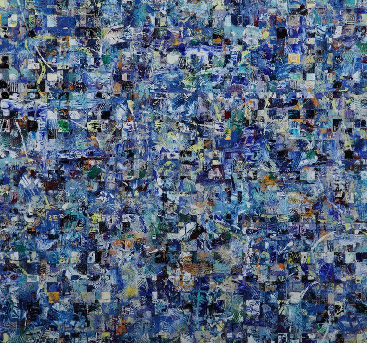 Delphic Blues  2015  Acrylic on Board by Lainard Bush