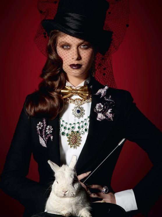 Magician costume idea for women.