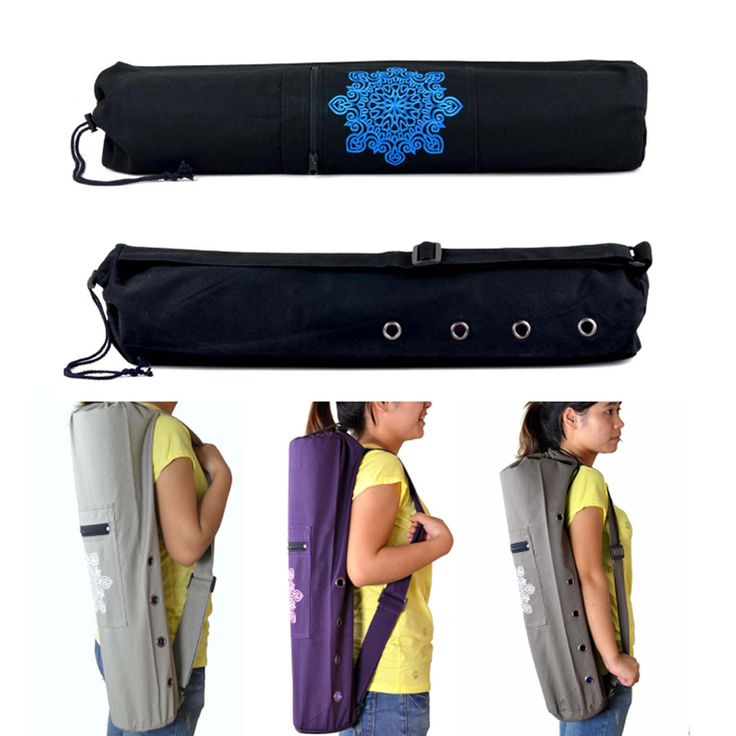 Straight Canvas Yoga Pad Backpacks Practical Yoga Pilates Mat Carry Strap Drawstring Bag Sport Exercise Gym Fitness Backpack