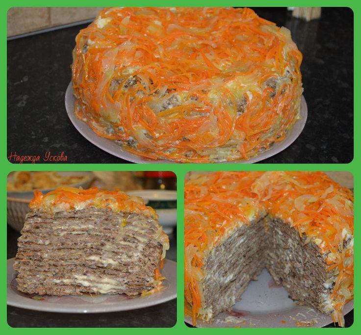 <strong>Печеночный тортик</strong> очень понравится тем, кто любит блюда из печени.