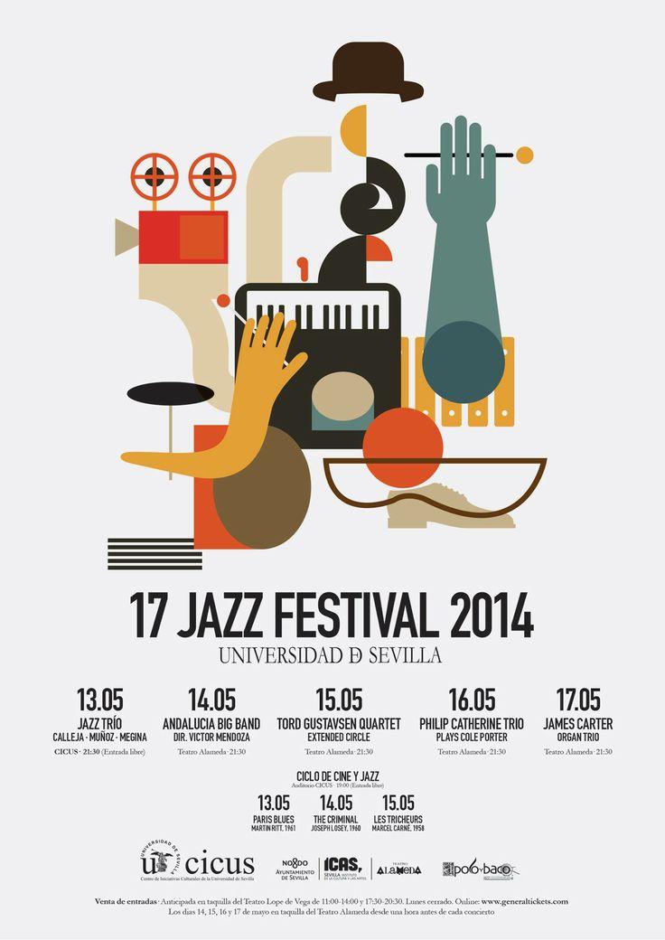 Cartel del 17 Jazz Festival 2014 por Javier Martinez Navarro.