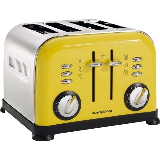 Morphy Richards Colour Boutique Accents Painted Colour Range 4-Slice Toaster