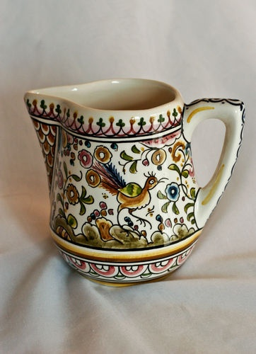 Hand-painted creamer pitcher from Coimbra, Portugal. Get yours today to have your own piece of traditional Portuguese hand-painted pottery! | eBay