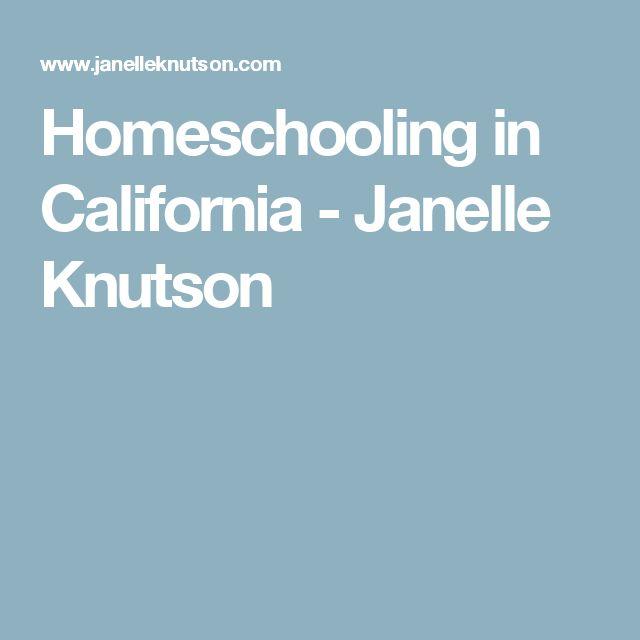 Homeschooling in California - Janelle Knutson
