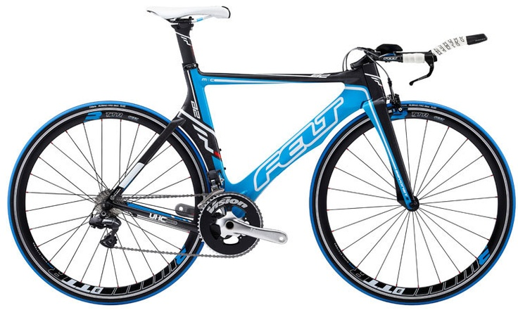 What makes the 2012 Felt B2 slightly better than mine is that the colors are a great match for Envision Fitness! ... and there may be that thing about stock electronic shifting!!! Cool stuff! I WANT!!!