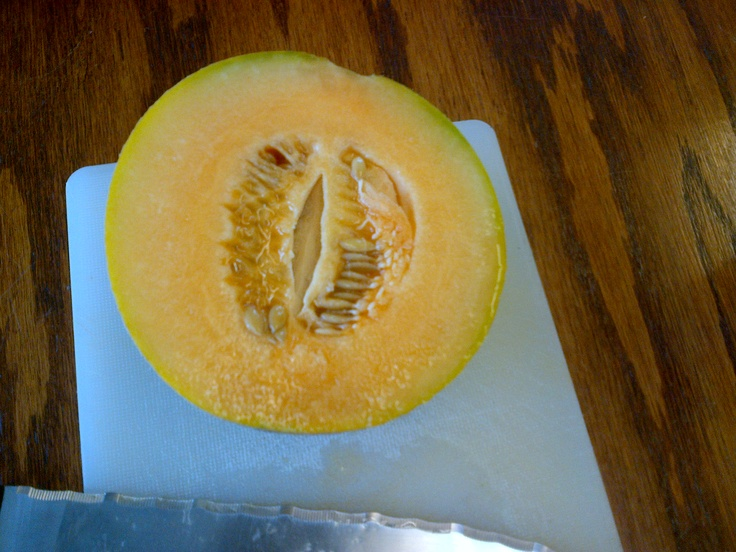 The most delicious melon I have ever had.  Grown here at the farm.  Picked and ate the same day.  Can't get any better than that.