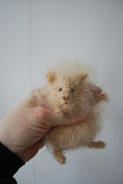 knitted hamster - this is hilarious - for Dani