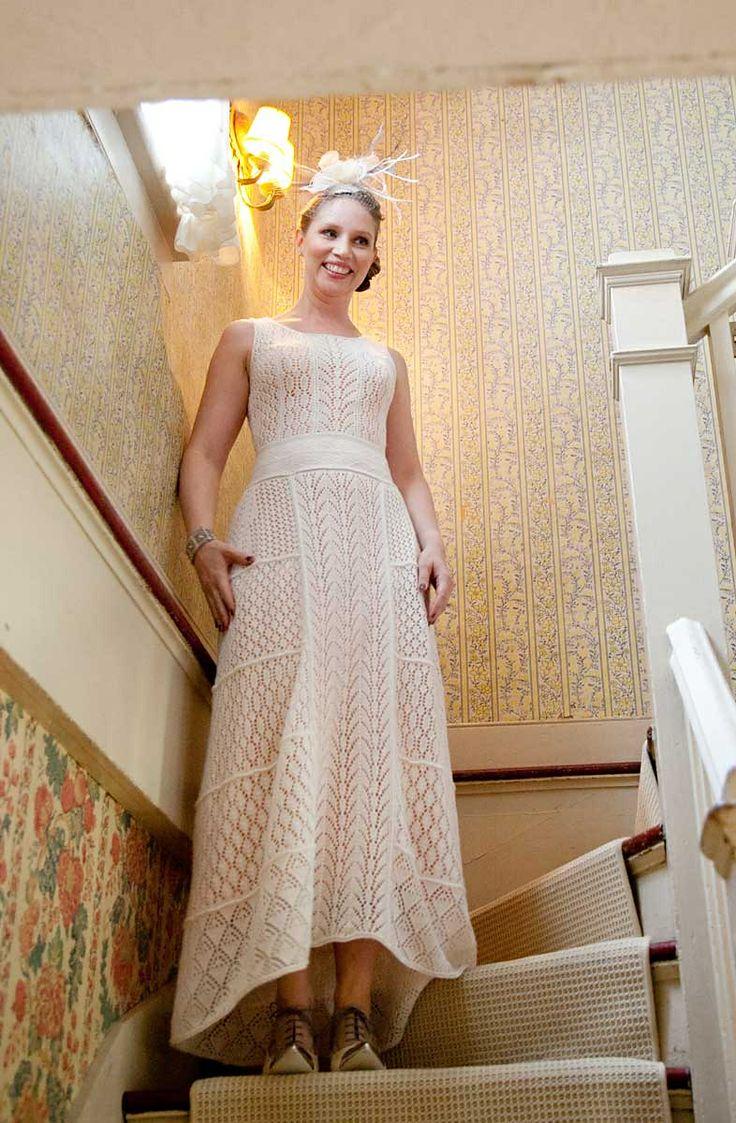 Knitted wedding dress   best Wedding images on Pinterest  Knitting Wedding dressses and