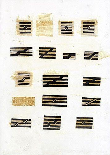 Jean Widmer, Etudes préliminaires pour le logo du CGP, 1974-1977
