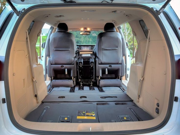 03. The 2015 Kia Sedona Offers Massive, But Not Class-Leading Cargo Space | Minivans are all about hauling, whether it be people or cargo, and the 2015 Kia Sedona doesn't disappoint. Folding down the third row, the Kia Sedona can tackle 142 cubic feet of cargo.  While this is much more room than what is on offer in most full-size SUVs and crossovers, it still lags behind the class leading Toyota Sienna by roughly eight cubes.