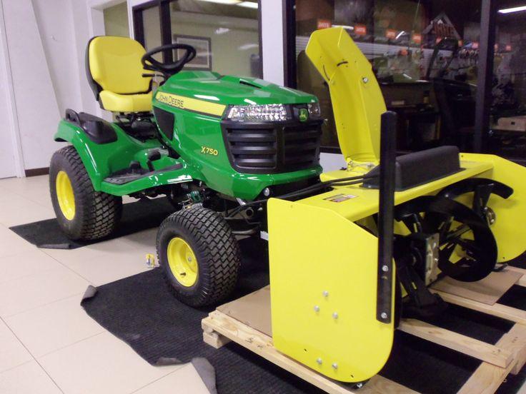 Yellow Snow Blower >> John Deere X750 with snowblower | Tri Green Tractor in Flora | Pinterest | John deere