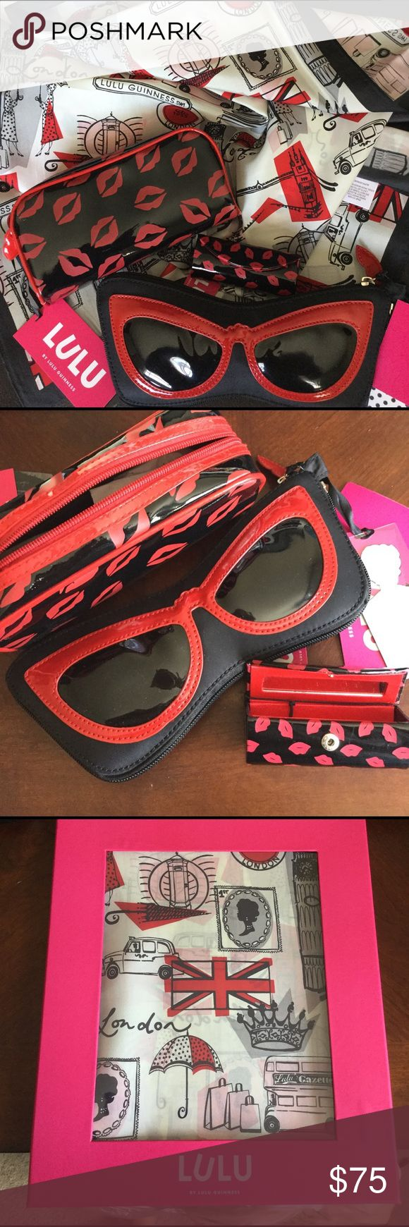 Spotted while shopping on Poshmark: Lulu Guinness Set of 4 Accessories! #poshmark #fashion #shopping #style #lulu guinness #Accessories