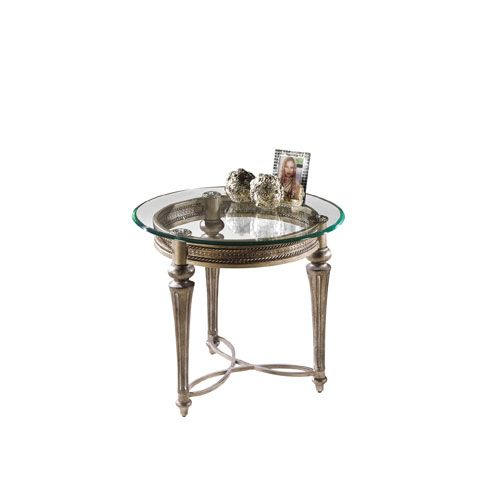 Galloway Glass Round End Table W/ Glass Top Magnussen Home End Tables  Accent Tables Living