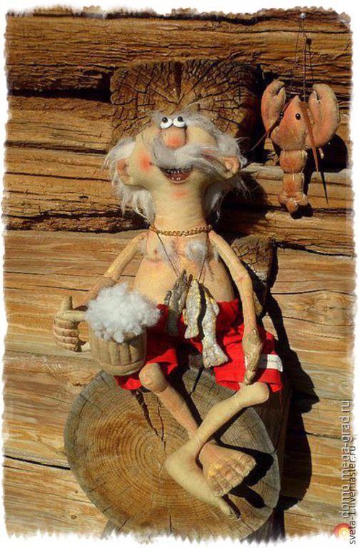 Купить Интерьерная кукла для бани. - оранжевый, баня, семейный очаг, подарок на любой случай