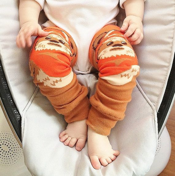 Geek Gift Ideas For Geeky Babies | Ewok Leg Warmers For Babies