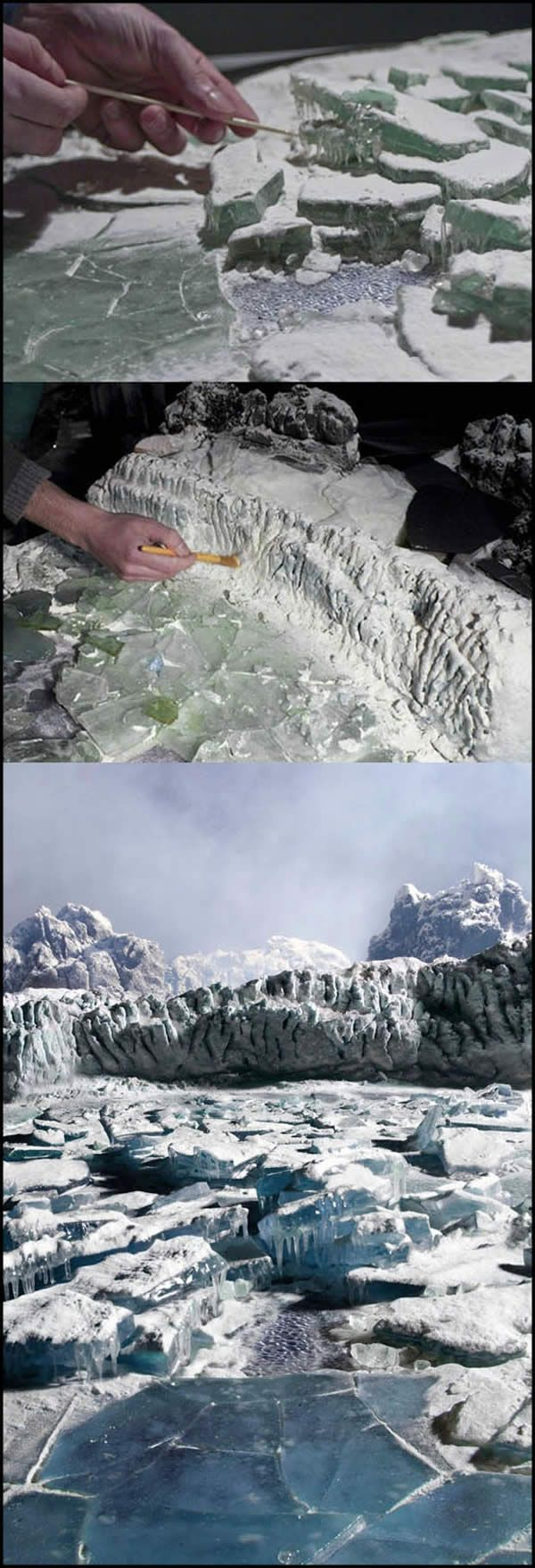 Modelando hielo