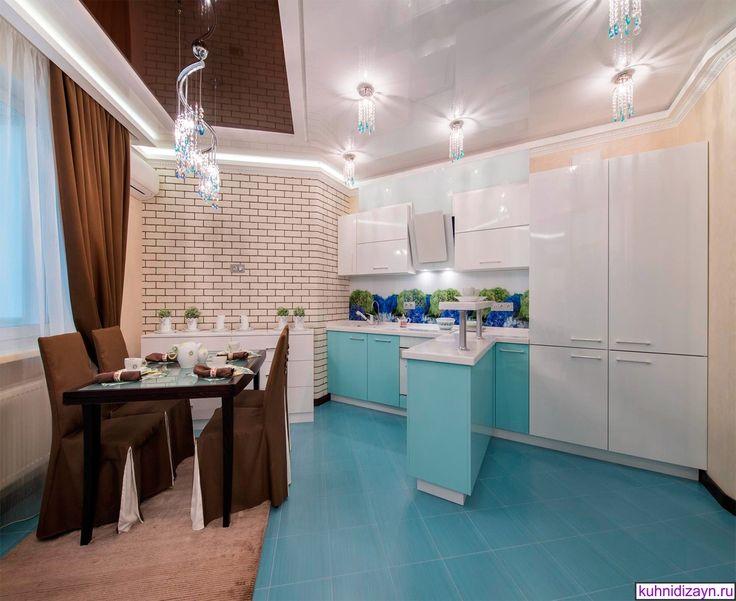 Мы представляем бирюзовые кухни на фото, чтобы вы сами смогли по конкретным фото кухни в бирюзовом цвете подобрать вариант дизайна кухни для себя.
