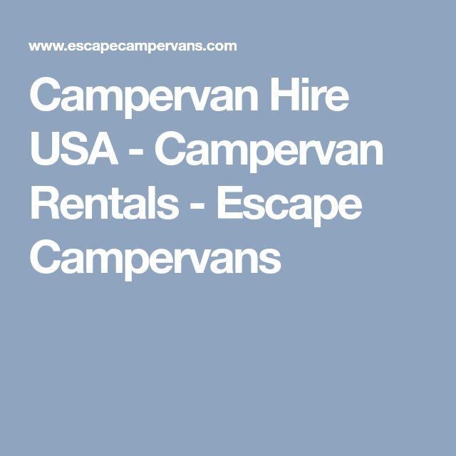 Campervan Hire USA - Campervan Rentals - Escape Campervans