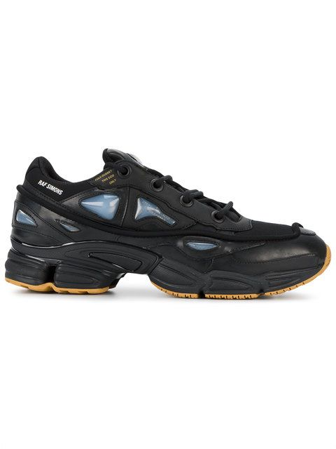 Adidas By Raf Simons Core black ozweego 2 leather sneakers