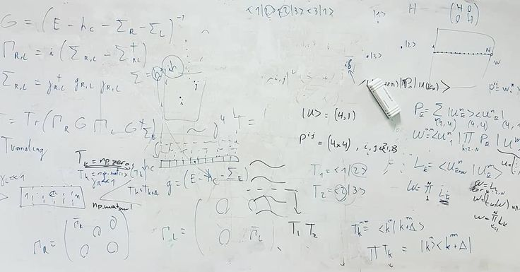 Messy whiteboards of ETH vol. 1: The creators of this piece of art seems to be discussing some condensed matter theory with some lovely bra-ket (Hilbert space) technology. It is not exactly my field of research so I cannot say exactly what they are working on. . . . #ethz #ethzurich #eth #zurich #zürich #züri #university #uni #doctoralstudent #research #theoreticalphysics #physics #phdlife #phd #graduate #student #studentlife #study #whiteboard #quantum #mechanics #school #switzerland…