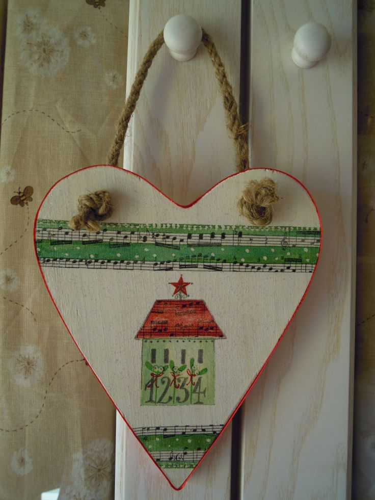 cuore Natale decoupage