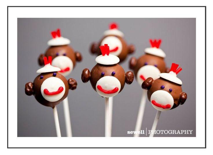 Sock Monkey Cake Pops: Monkey Parties, Sock Monkeys, 1St Birthday, Sock Monkey Cakes, Monkey Cakes Pop, Parties Ideas, Monkey Cake Pops, Socks Monkey Cakes, Cake Pops