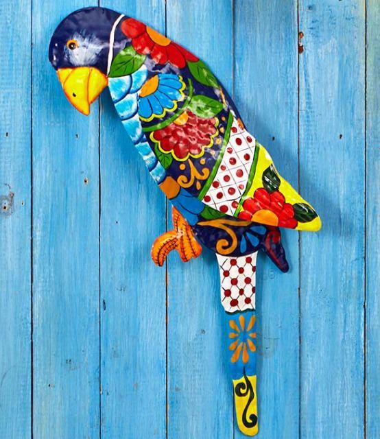 Tropical Beach Decor Home Wall Hanging Nautical Bathroom Sunroom Fence Parrot | Home & Garden, Home Décor, Wall Sculptures | eBay!