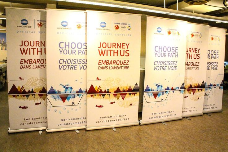 Retractable #banners for Konica Minolta Canada, official supplier of the #2015CanadaGames in Prince George.