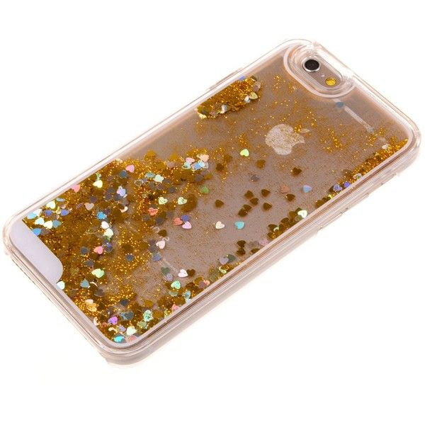Nine States Transparent Plastic 3D Glitter Quicksand Stars Liquid Case... ($9.99) ❤ liked on Polyvore featuring accessories, tech accessories and prepaid smartphones