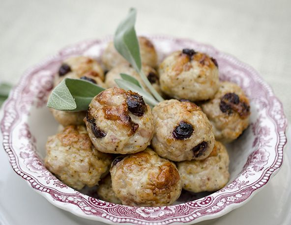 Turkey & Cranberry Meatballs from The Clothes Make the Girl