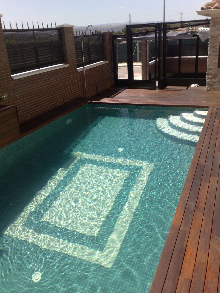 Mejores 8 im genes de piscina con jardineras y cascadas - Piscina madera rectangular ...