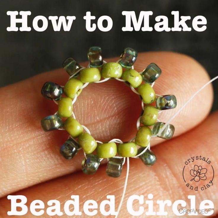 Wie man Anthropologie Stil Perlen macht   – Jewelry beading tutorial