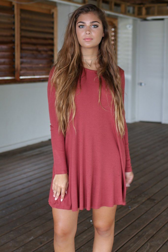 September Nights is a classic style, long sleeved dress. Dress has pockets.  Material is Rayon and Spandex Not lined Model Addi is 5'6 wearing size small Bust