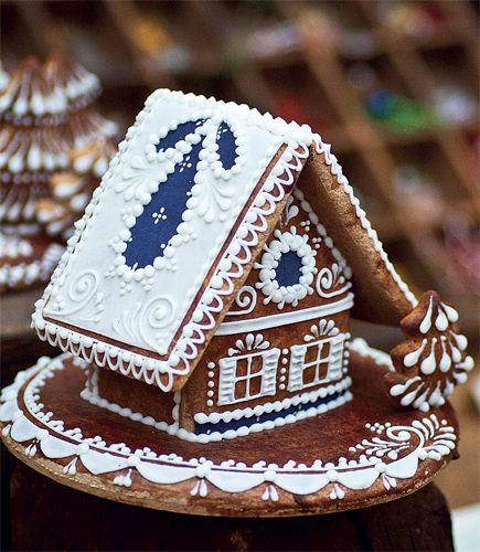 Christmas-Food idea-Perníková chaloupka | Chatař & Chalupář-Hansel and Gretel Gingerbread House