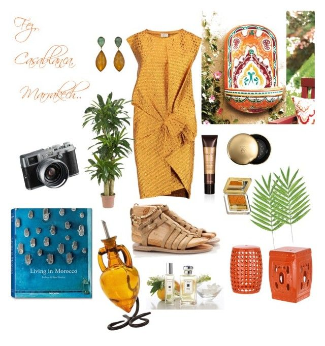 Living in Morocco*** by sheiscarla on Polyvore featuring polyvore, fashion, style, Lanvin, Ancient Greek Sandals, Fratelli Karida, Jona, Guerlain, Estée Lauder, Jo Malone, Fountain, Nearly Natural, Retrò, Safavieh, Fuji, women's clothing, women's fashion, women, female, woman, misses and juniors