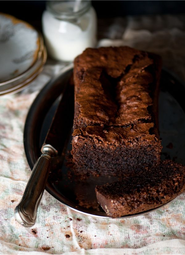 Chocolate And Poppyseed Cake....Mohnkuchen ...I top it with a ganache made from Nougat, a german chocolate bar that's rich and creamy.