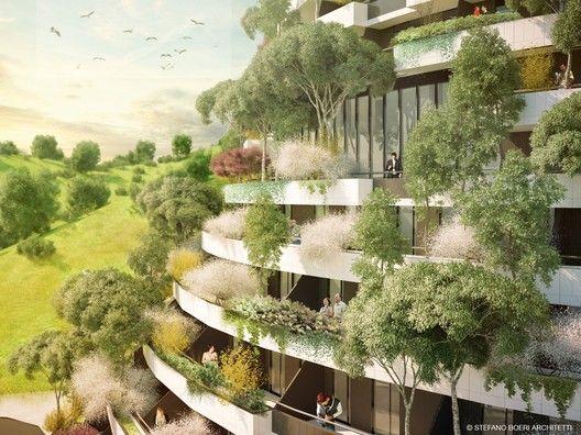 Stefano Boeri Architetti Designs Vertical Forest Hotel in Remote Chinese Valley,© Stefano Boeri Architetti