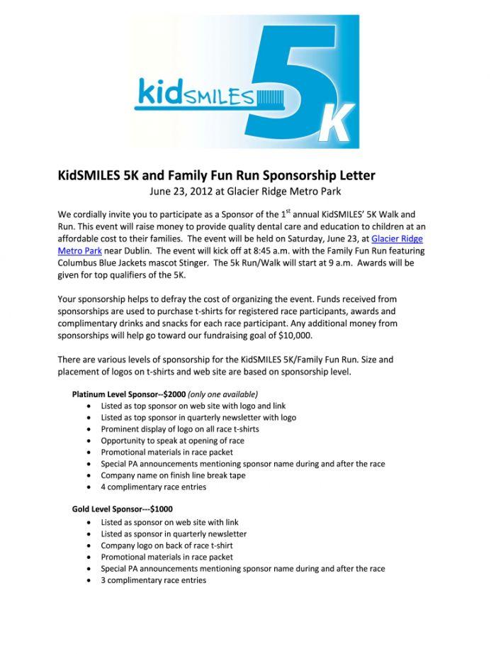 Sponsorship Proposal Sponsorship Letter Proposal Templates