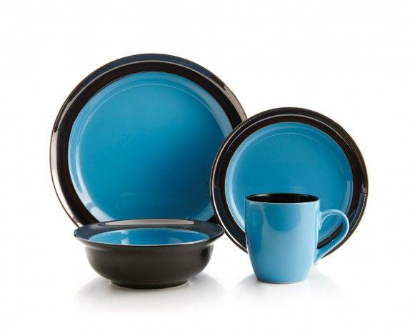 Ensemble de vaisselle Galaxy blue, 16 mcx (service pour 4) - Services de vaisselle - Salle à manger | Stokes Inc. Canada's Kitchen Store