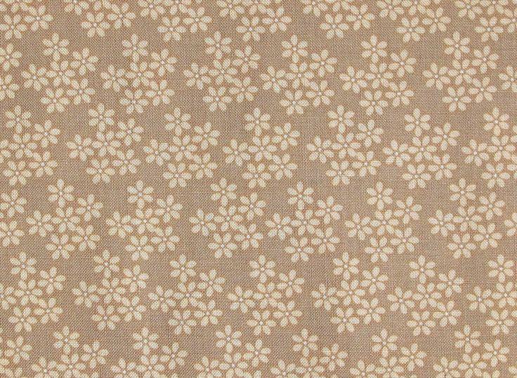 Stoff Blumen - Stoff Blumen beige Blumenstoff - ein Designerstück von HE-RO bei DaWanda