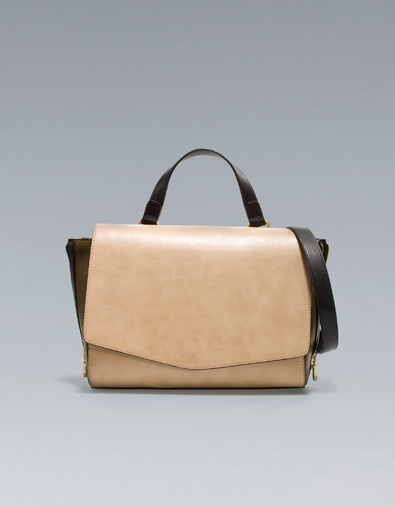 Zara MESSENGER BAG WITH ZIPS