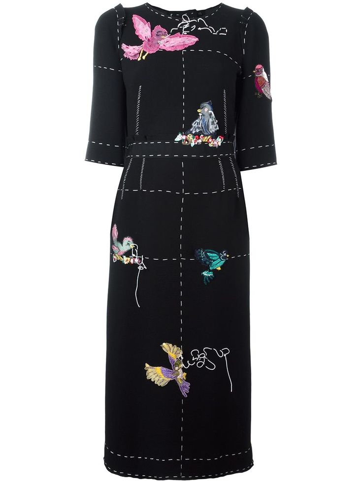 Dolce & Gabbana bird appliqué detail dress