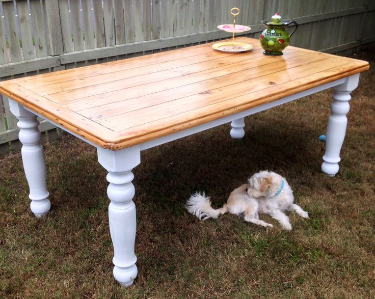 Refabbed dining table, using chalk paint