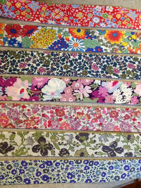 Bias binding made with Liberty tana lawn.... lovely, available at l'uccello